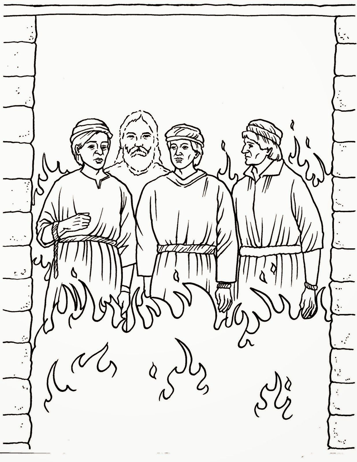 Daniel And Fiery Furnace Coloring Page Sunday School Coloring