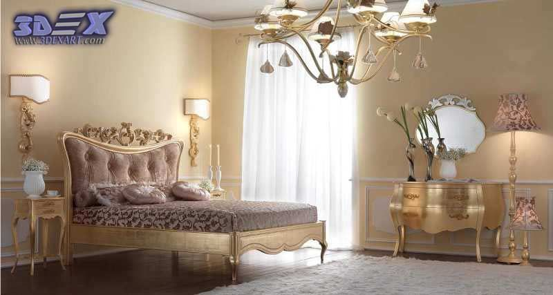 ... Luxury Art Deco Bedroom Design And Gold Furniture, Art Deco Style   Art  Deco Bedroom ...