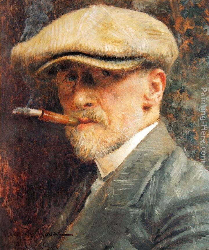 Vlaho Bukovac Self Portrait Painting 1914 | Self-Portraits ...
