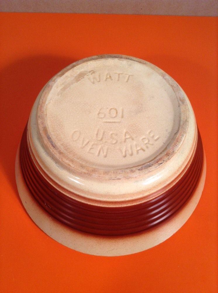 VTG USA WATT  601 POTTERY YELLOWWARE BOWL MEXICAN  Man SOMBRERO Glazed Earth Old