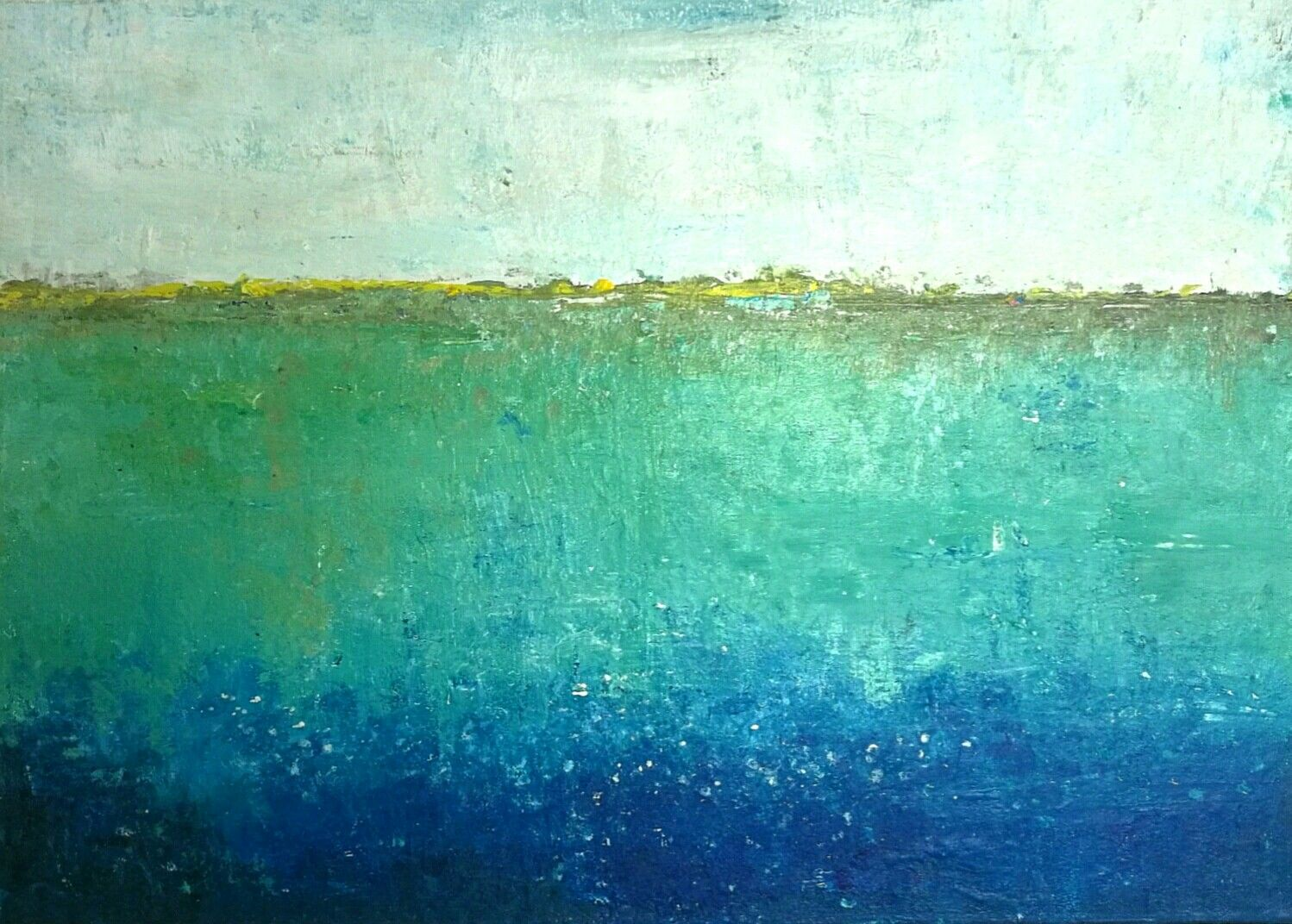 Blue de luxe! :-) Painted by FIONA MARES, Acrylic colors on canvas frame, size 90 x 70 cm.