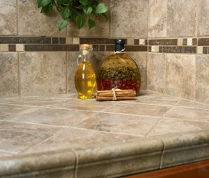 Tile Kitchen Countertops   Arizona Tile Old Ferro Burnish