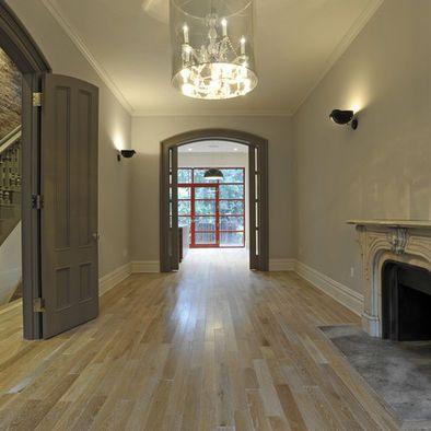 Dark door & door trim white baseboard Like this look