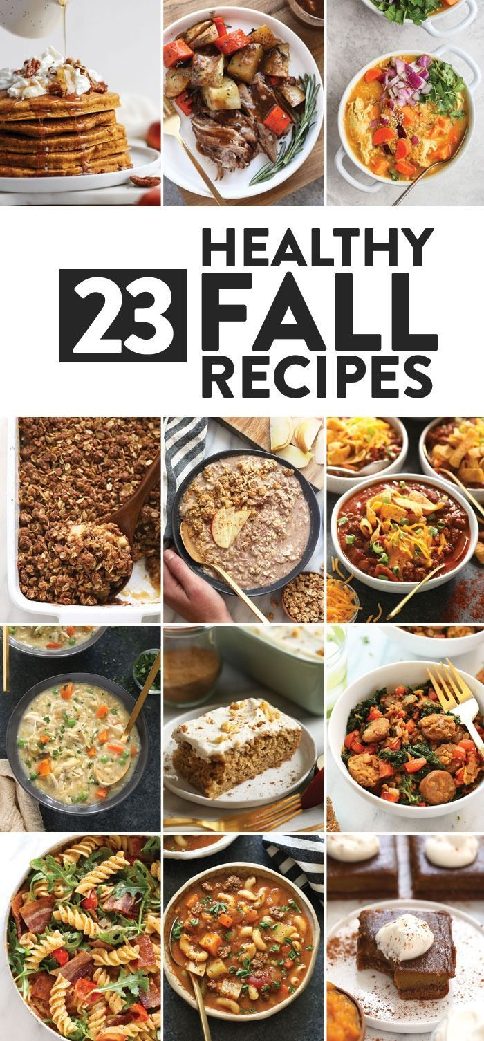 Tis the season to eat hearty with 23 of our favorite healthy fall recipes! From flavorful soups to seasonal healthy dinner ideas, we've got all the fall recipe inspo for you! #heatlhyrecipes #fitfoodiefinds #fallrecipes #fallrecipesdinner