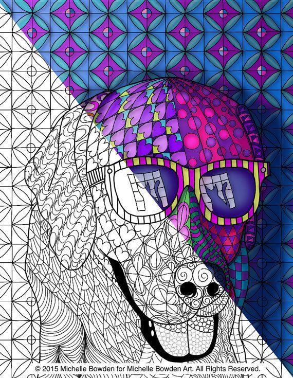 Coloring Page Printble Feline Fascincation By MichelleBowdenArt