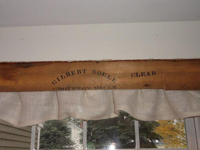 Vintage Wood Valance