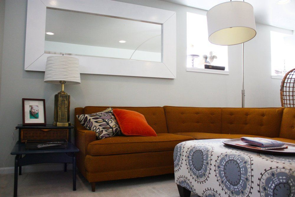 """Meg & Joe's """"In Full Bloom"""" House Tour House Tour   Apartment Therapy Love this MCM couch..."""