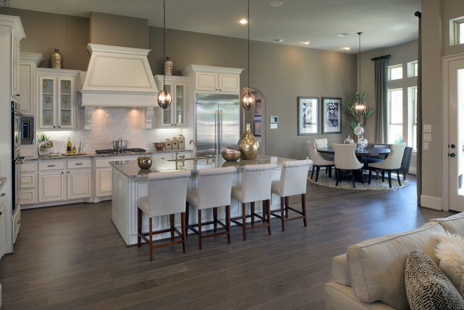 Openconcept kitchens and living spaces with flow home