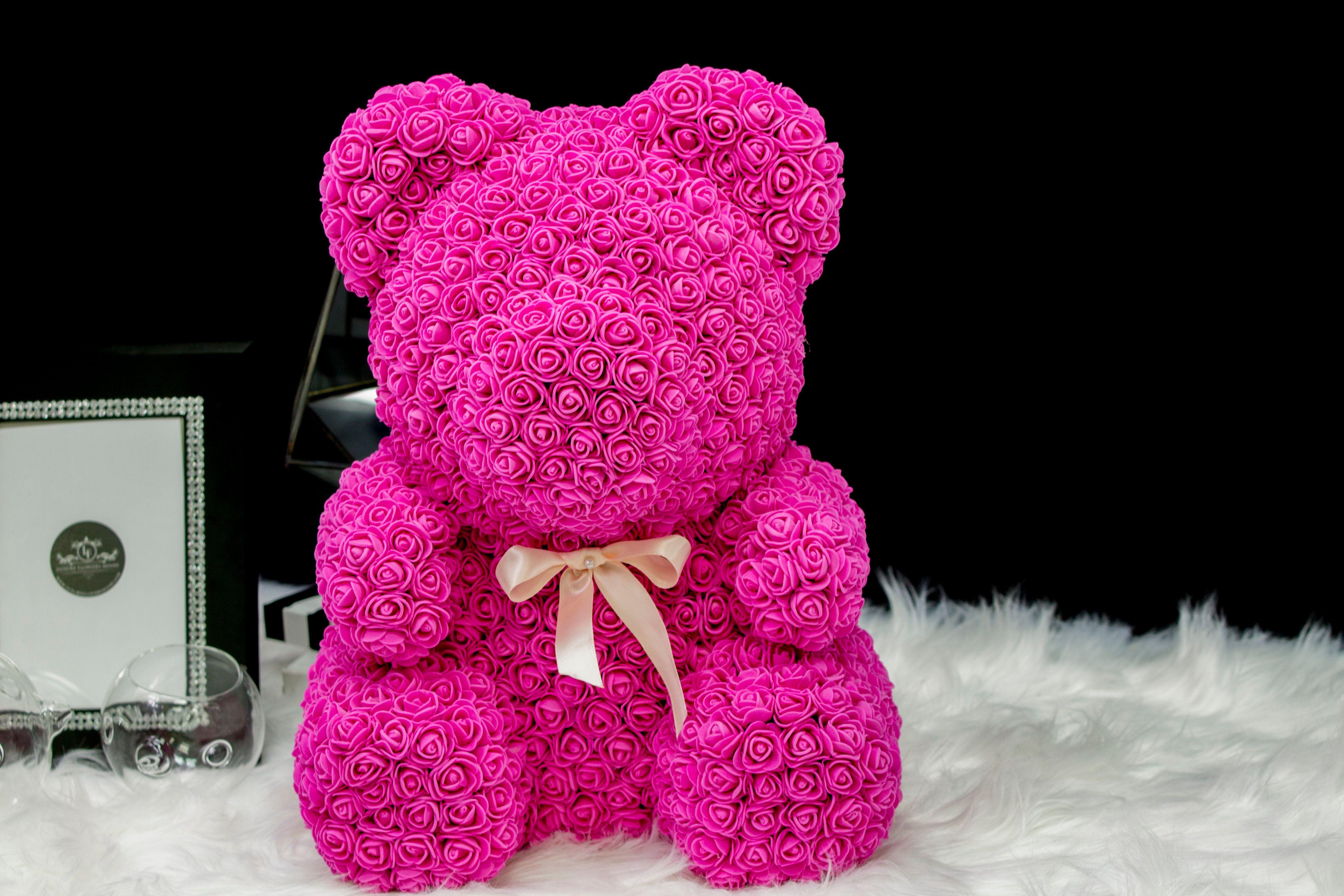 Rose Teddy Bear Luxury flowers, Lauderdale by the sea