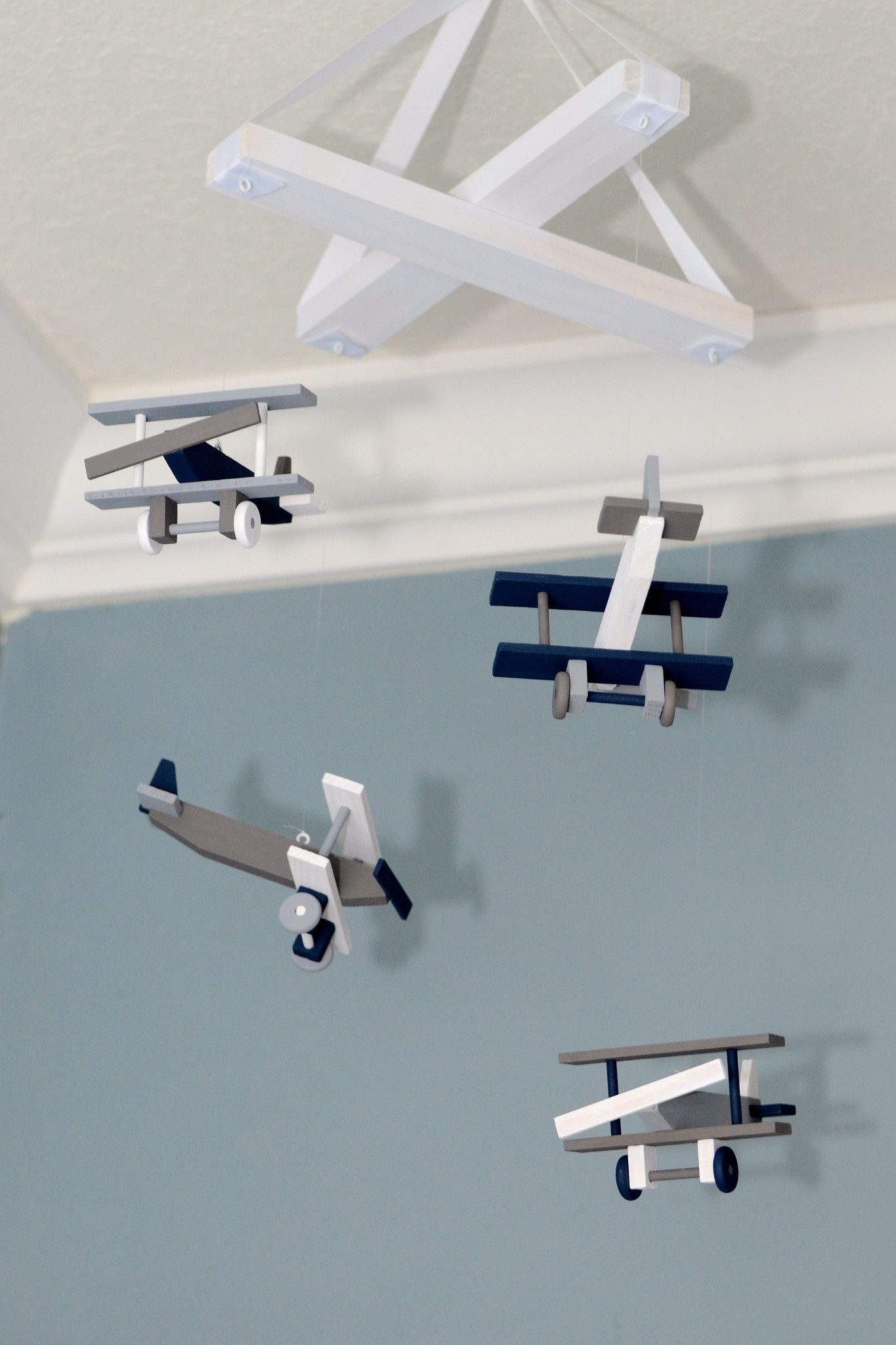 Nursery Mobile Biplane Decor