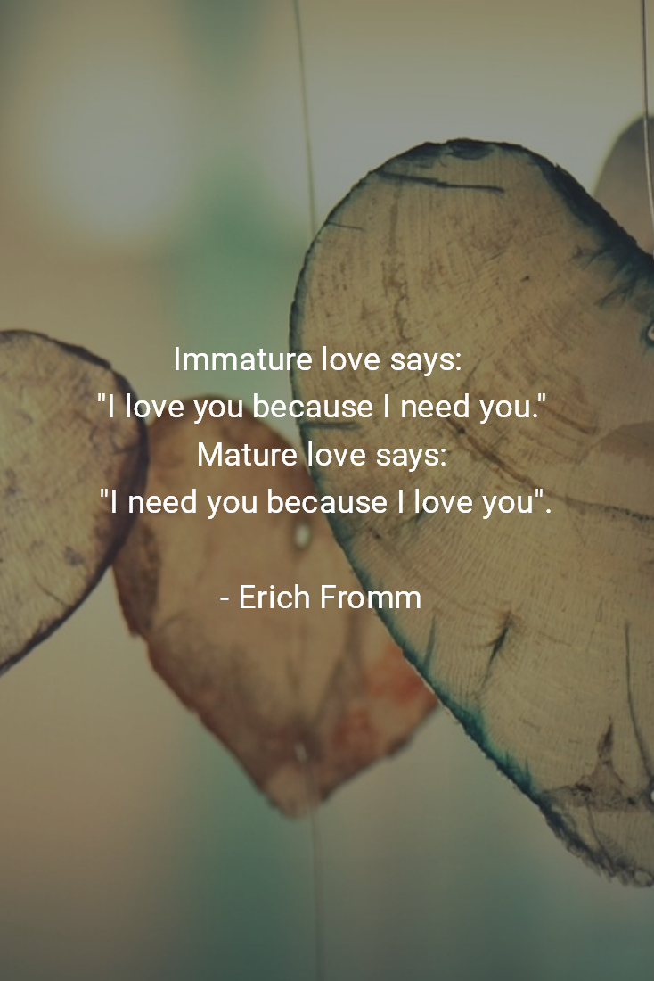 Love love mature immature erich fromm