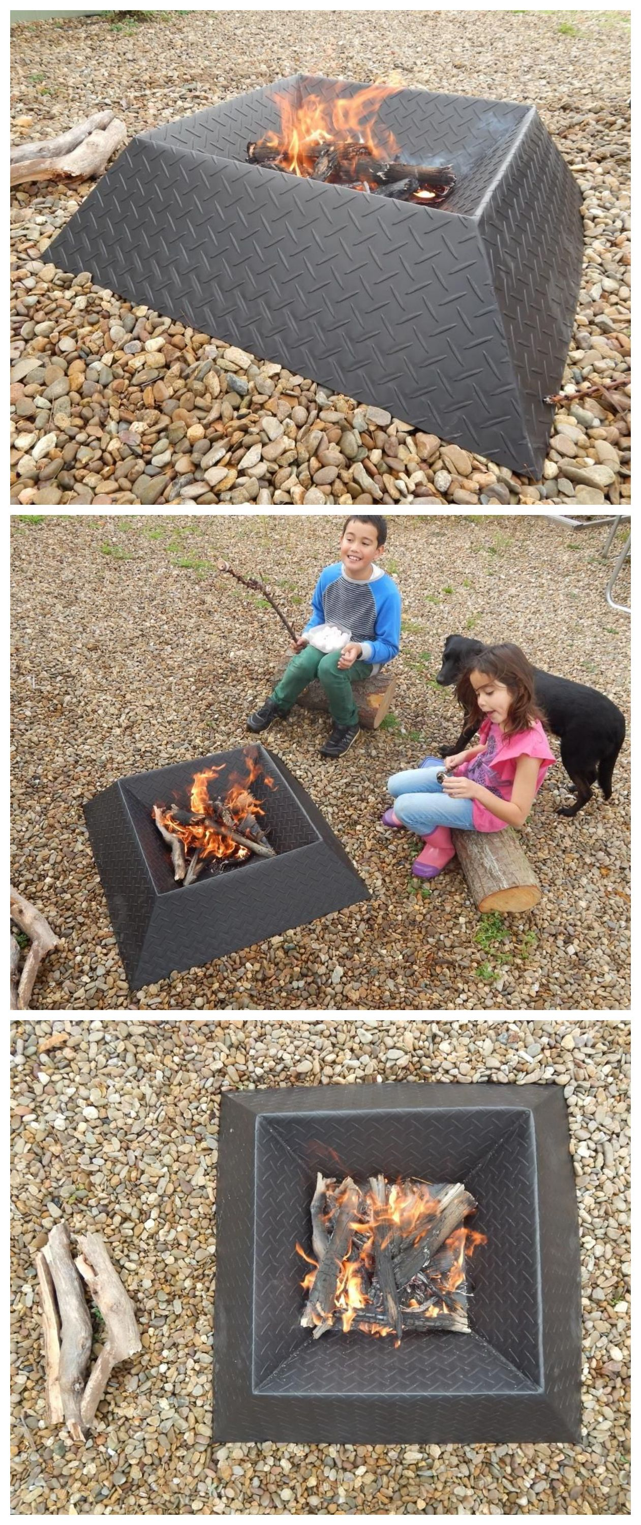 How To Make A Cool And Compact Fire Pit From Half A Sheet Of Steel Welding Projects Modern Fire Pit Outdoor Fire
