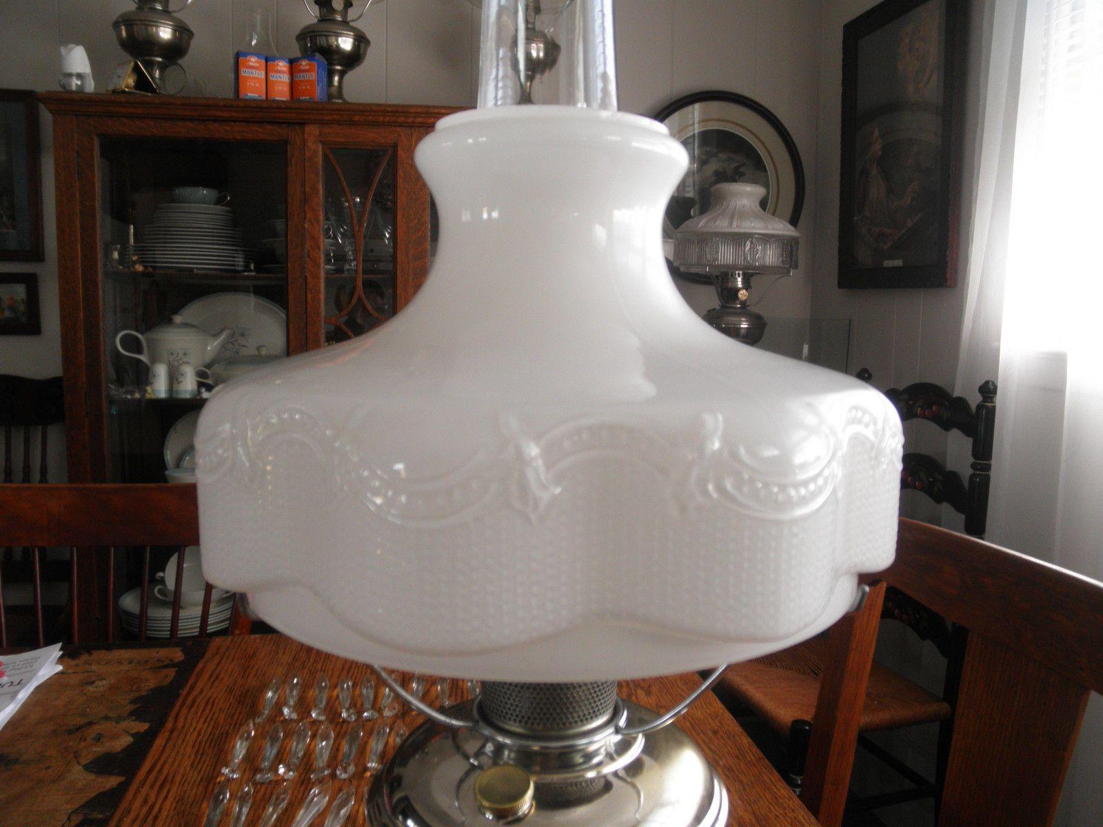 ALADDIN Oil Lamp Model 11 Complete incl. 201 Shade, Screen