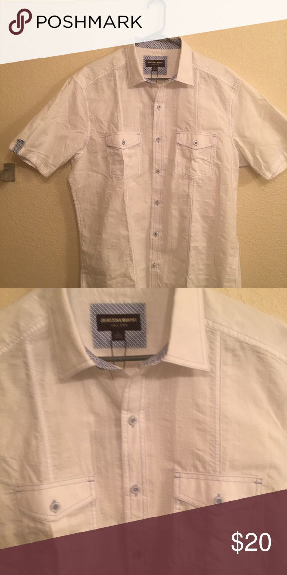 New Short Sleeve Shirt New with tags Johnston & Murphy