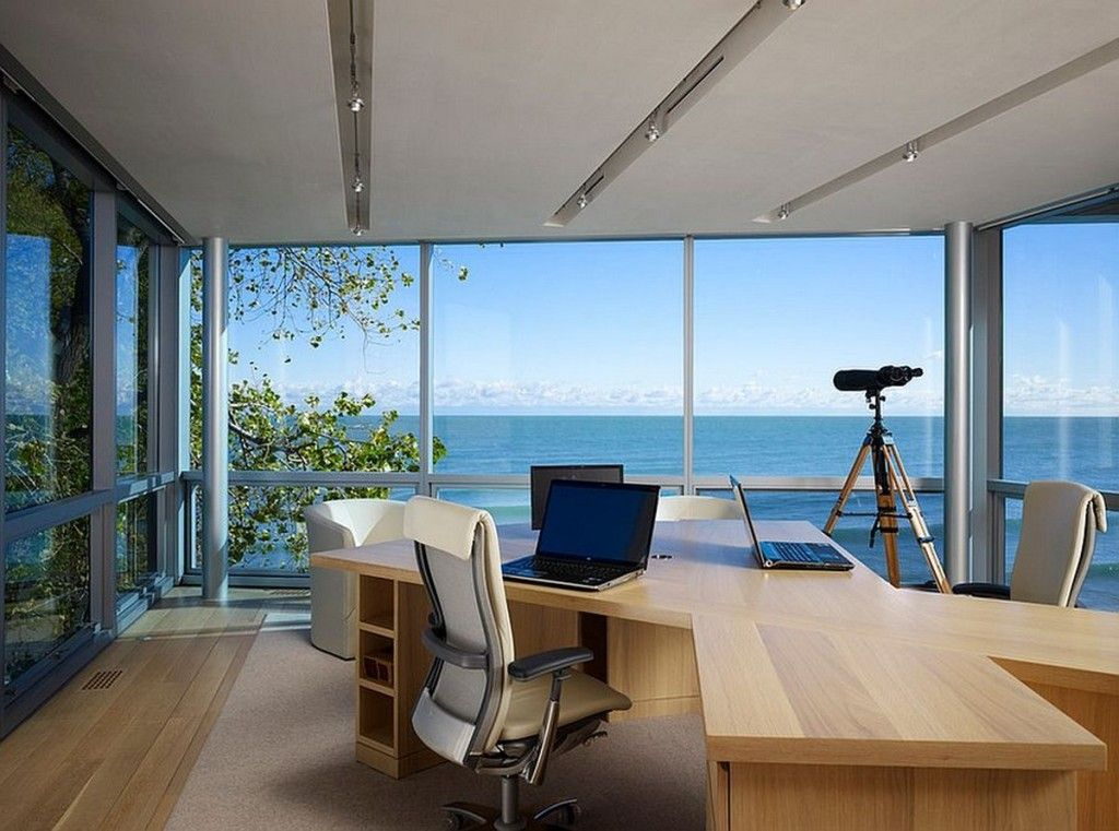 Office   Workplace With Ocean View
