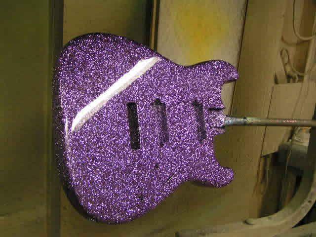 Purple Sparkle Strat Ja Cool Guitar Paint Jobs And