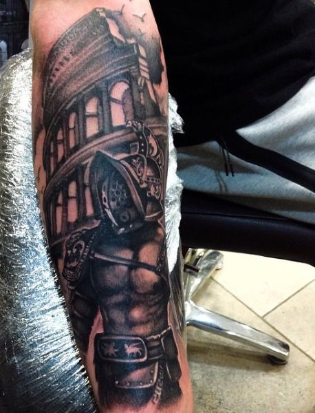 50 Gladiator Tattoo Ideas For Men - Amphitheaters And ...