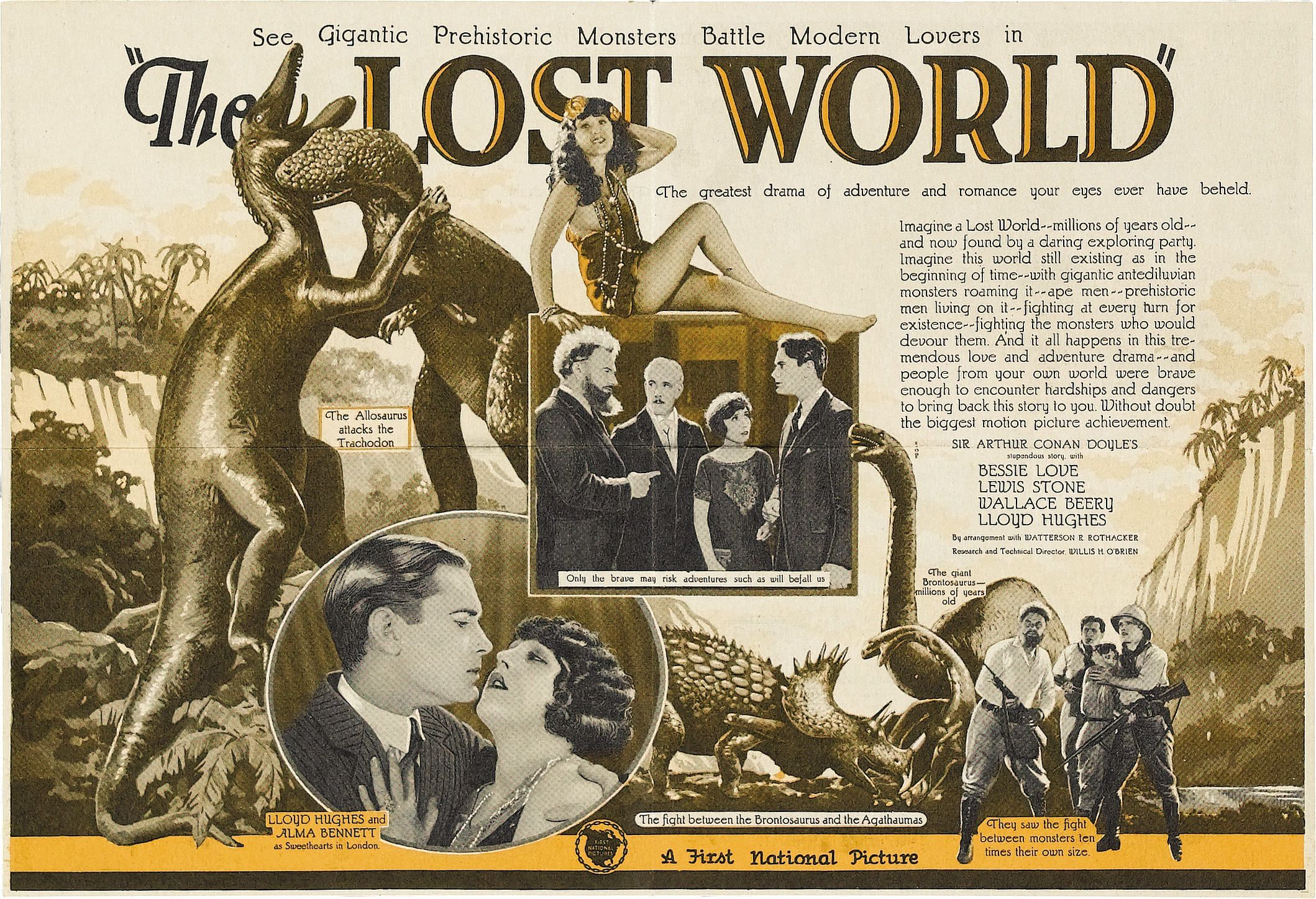 The Lost World (1925)   Pinterest   Bridges, Logs and The o'jays
