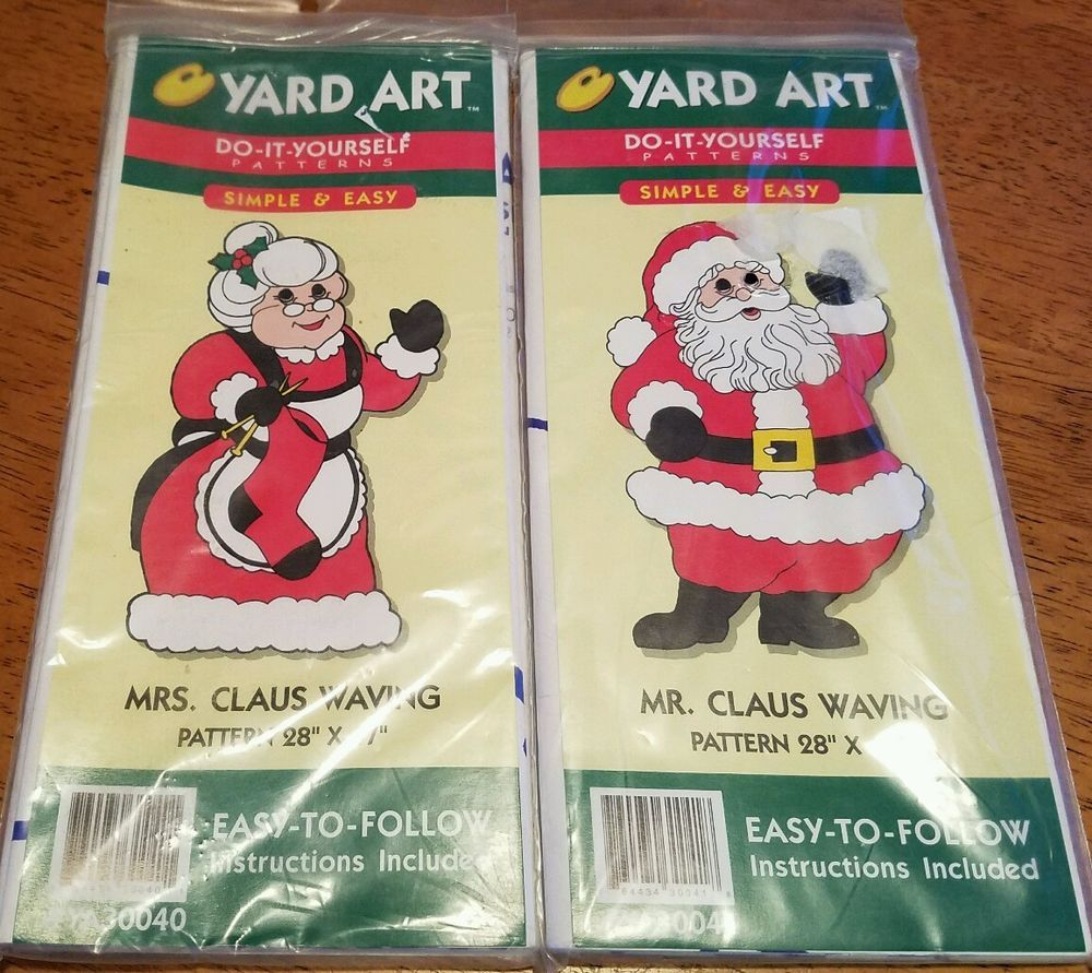 Vtg 98 wood yard art do it yourself xmas santa mrs claus waving cut vtg 98 wood yard art do it yourself xmas santa mrs claus waving cut out patterns solutioingenieria Images