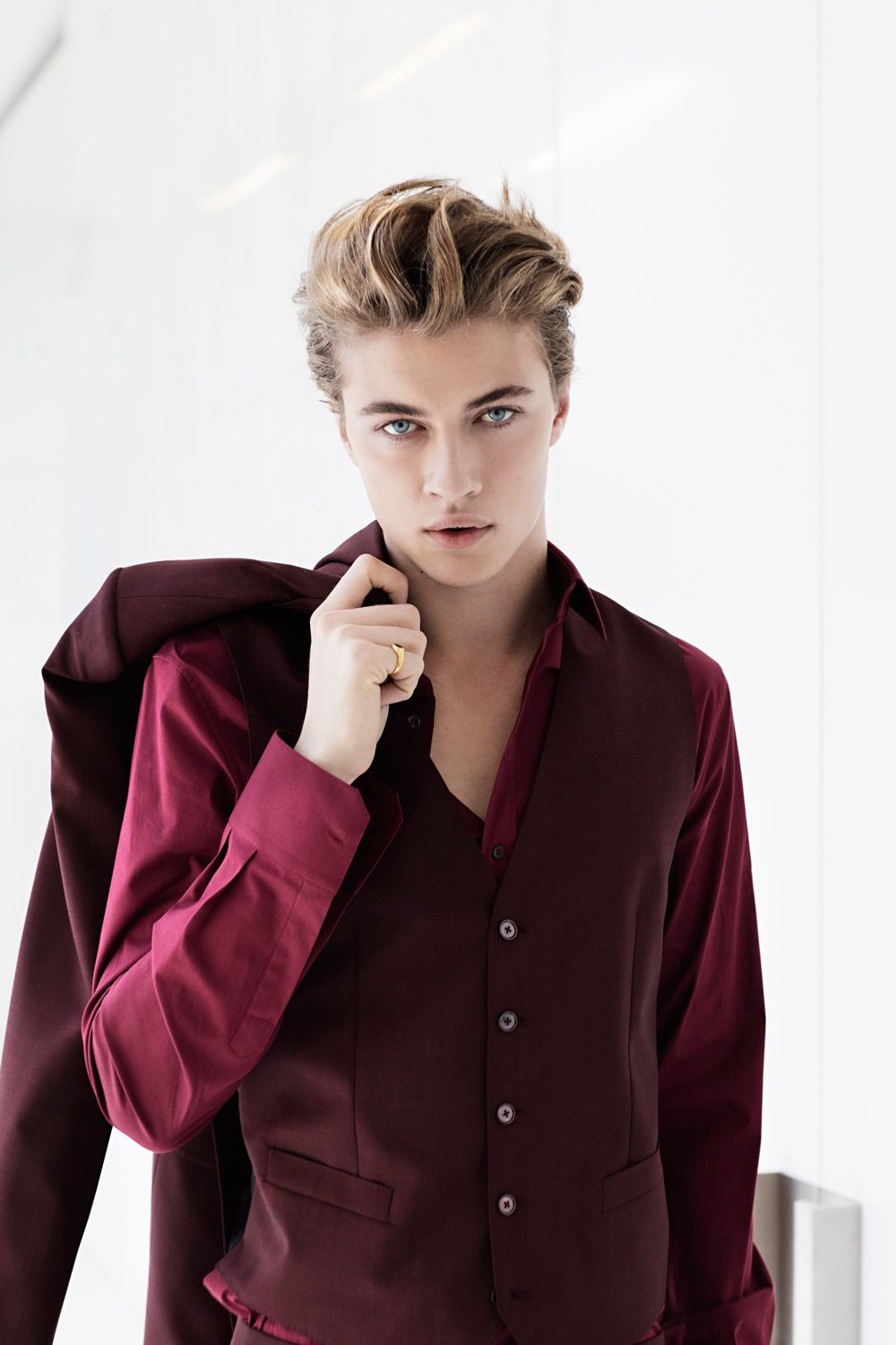 Lucky Blue Smith Wearing Dolce Amp Gabbana On Grazia Italy