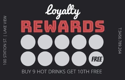 Coffee Loyalty Reward Card Template