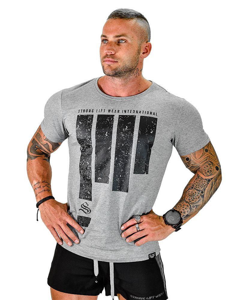 Fashion brand men sporting short sleeve fitness tshirt