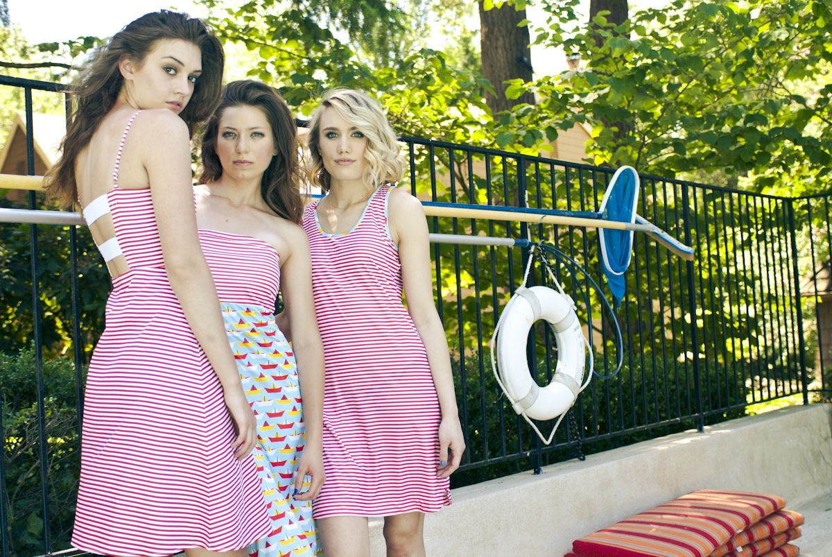 Eva, Frances, and the Striped #Tankdress from #TiffanyBean are here! - Pre order yours now!