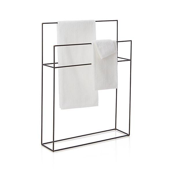 floor towel stand. Bath - Jackson Floor Stand | Crate And Barrel Iron Towel Stand, Standing Rack, Minimalist Pinterest