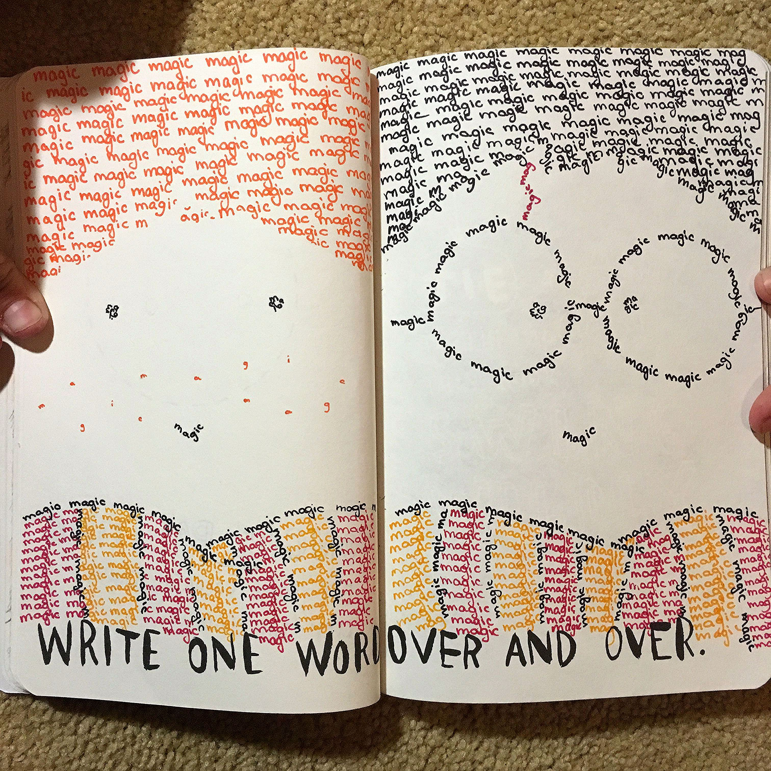 Wreck This Journal Write One Word Over And Over Harry Potter Magic Harry Potter Journal Harry Potter Notebook Harry Potter Drawings