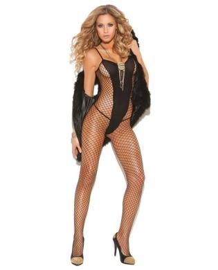 2dbeeaac7a7 Vivace diamond net and opaque bodystocking black o s - From Elegant Moments  comes the Vivace Diamond Net and Opaque Bodystocking.