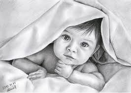 cute baby painting by artist harpreet kaur gallerist