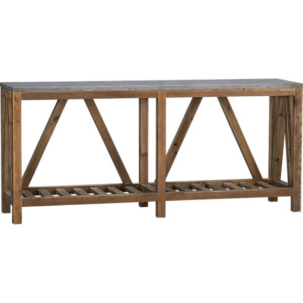 Bluestone Console Table In Side Coffee Tables Crate And Barrel Too Rustic Arhaus Has Similar Coffee Table Crate And Barrel Coffee Table Console Table