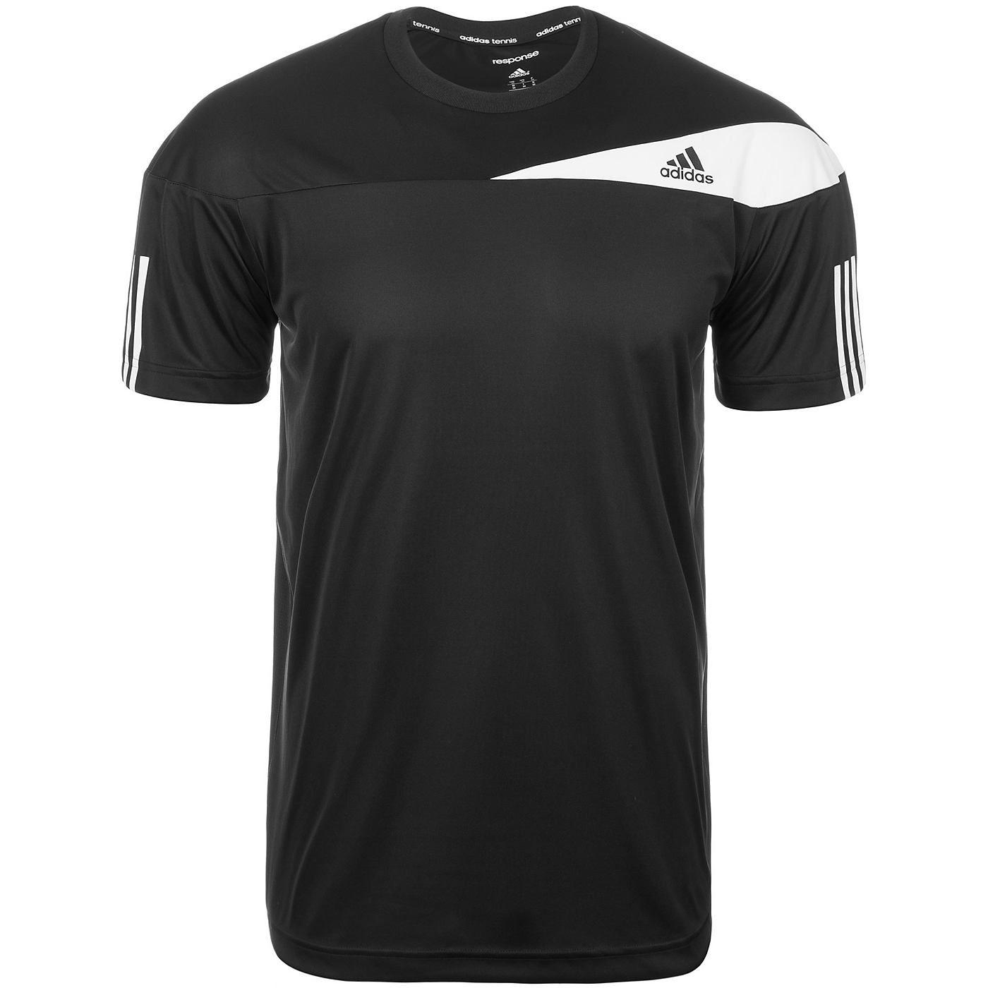 Response Tennisshirt Herren    Um den perfekten Aufschlag abzuliefern, brauchst du absolute Konzentration. Dieses Tennis-T-Shirt für Männer hilft dir dabei, sie zu erreichen, denn dank grandioser Ventilation musst du dir um Hitze und Schweiß keine Gedanken machen.     ClimaCool-Technologie und der Meshstoff auf der Rückseite sorgen für Ventilation und Feuchtigkeitsmanagement. Das Shirt mit geri...
