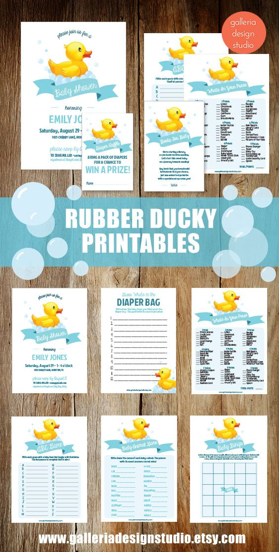 Rubber Duck Baby Shower Games for your baby shower! | party | Pinterest