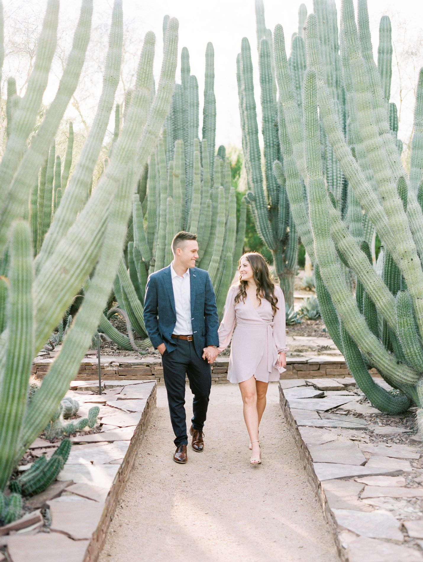 Desert Botanical Garden Engagement - Kara & TJ #botanicgarden