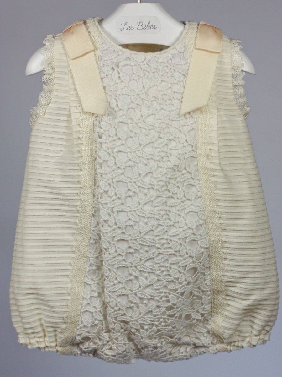 pelele beige ceremonia bautizo bebe niño y niña rochy  f354df141f3b