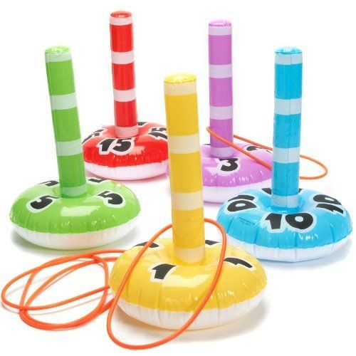 Fun Express Inflatable Ring Toss Game by Fun Express. $12.88. Introduce a fun game to your kids this summer with this Inflatable Ring Toss Game. This game is great for picnics and beach time fun!