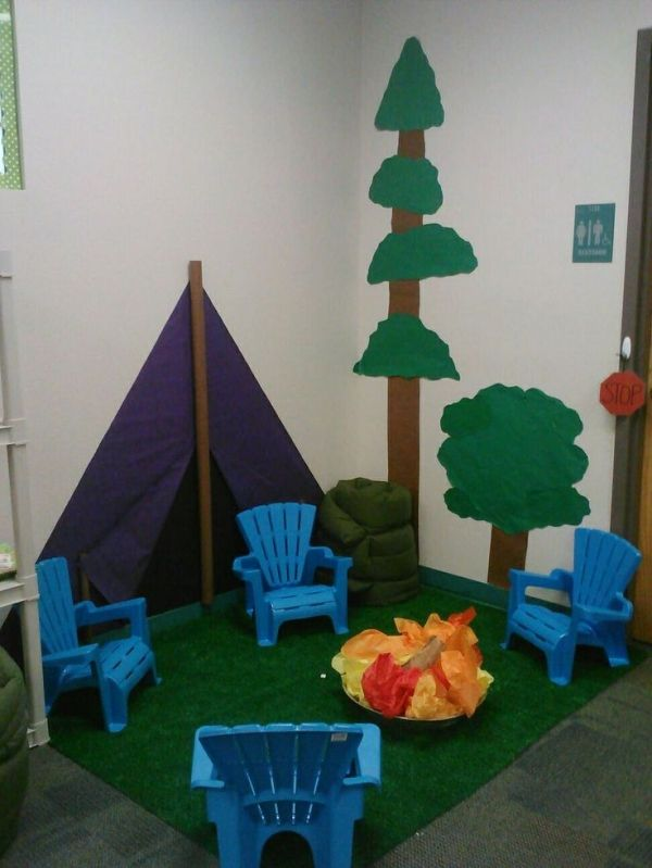 Camping classroom theme by maryann classroom set up for Room decor out of paper