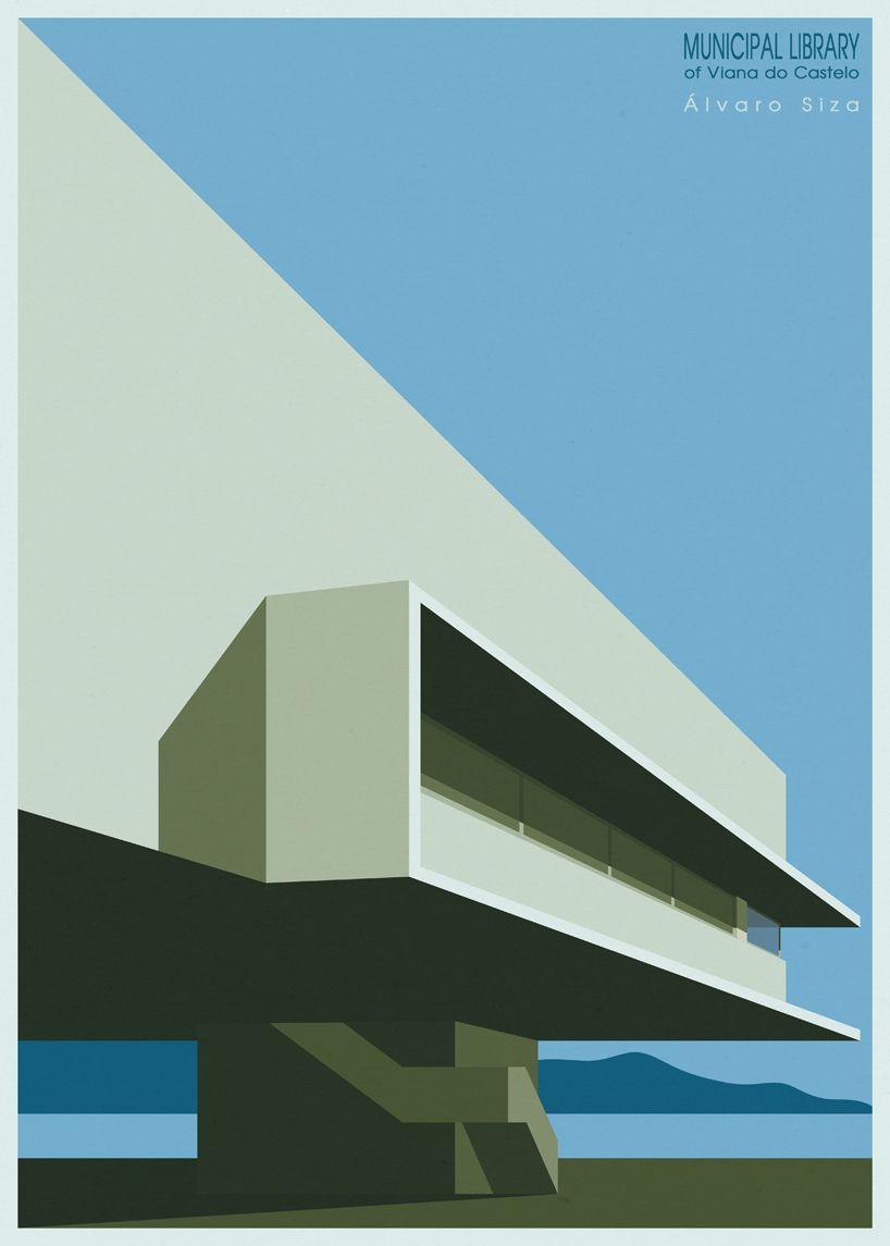 Minimalist Architectural Illustrations Created Using Just