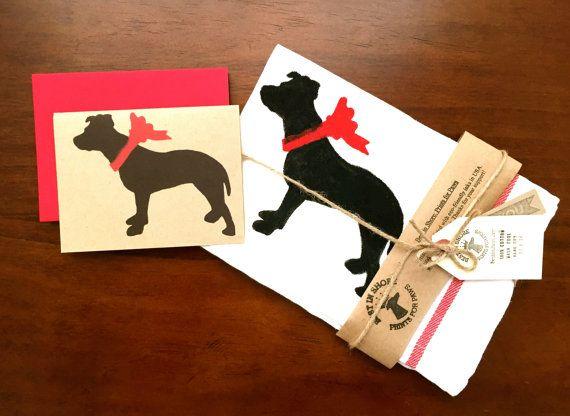 Pit Bull Dog Tea Towel Kitchen Dish Cloth Decor % By BestInShore Pit Bull  Dog Tea