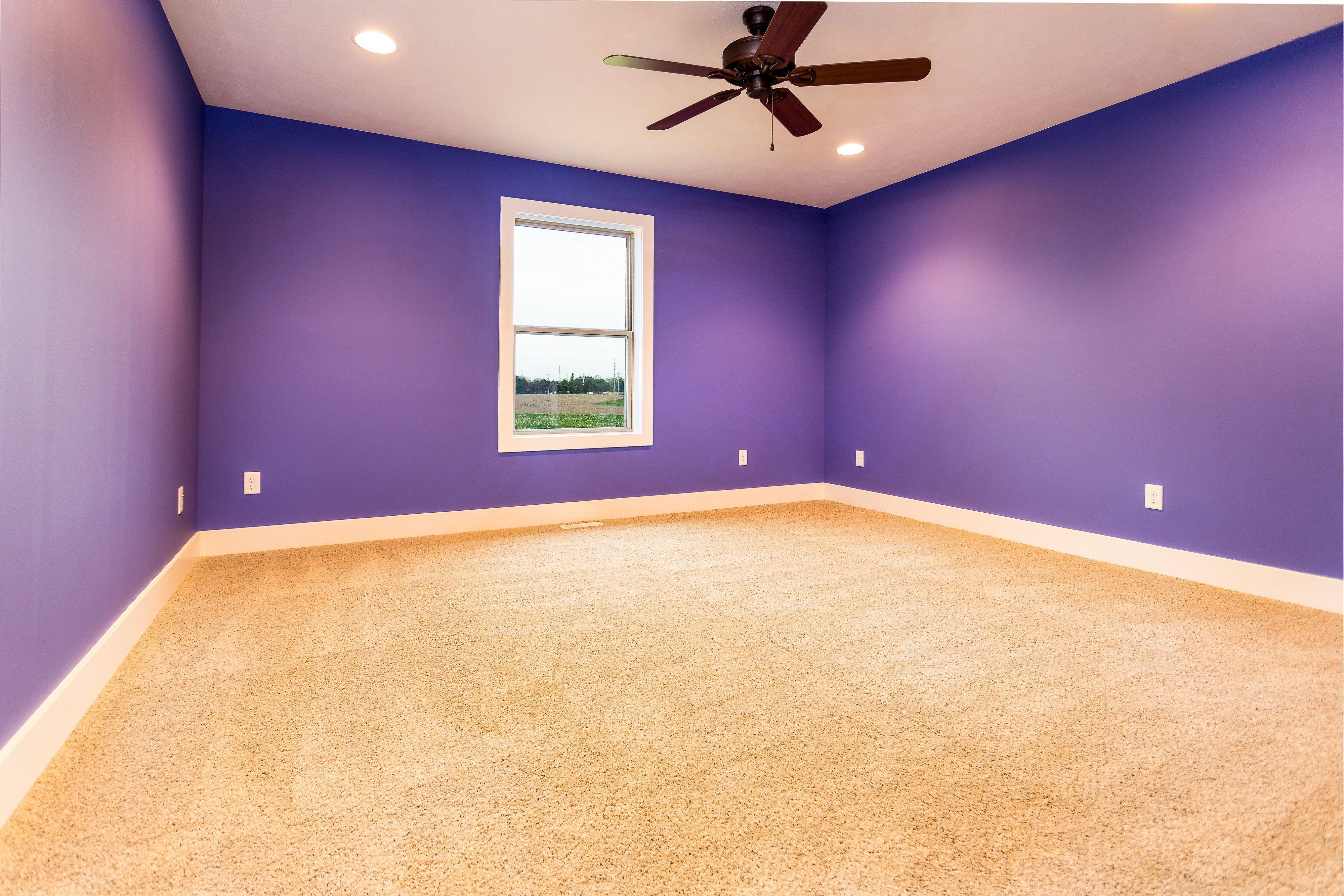 Kids Room Purple Empty Room Open Concept Great Room Purple Bedroom