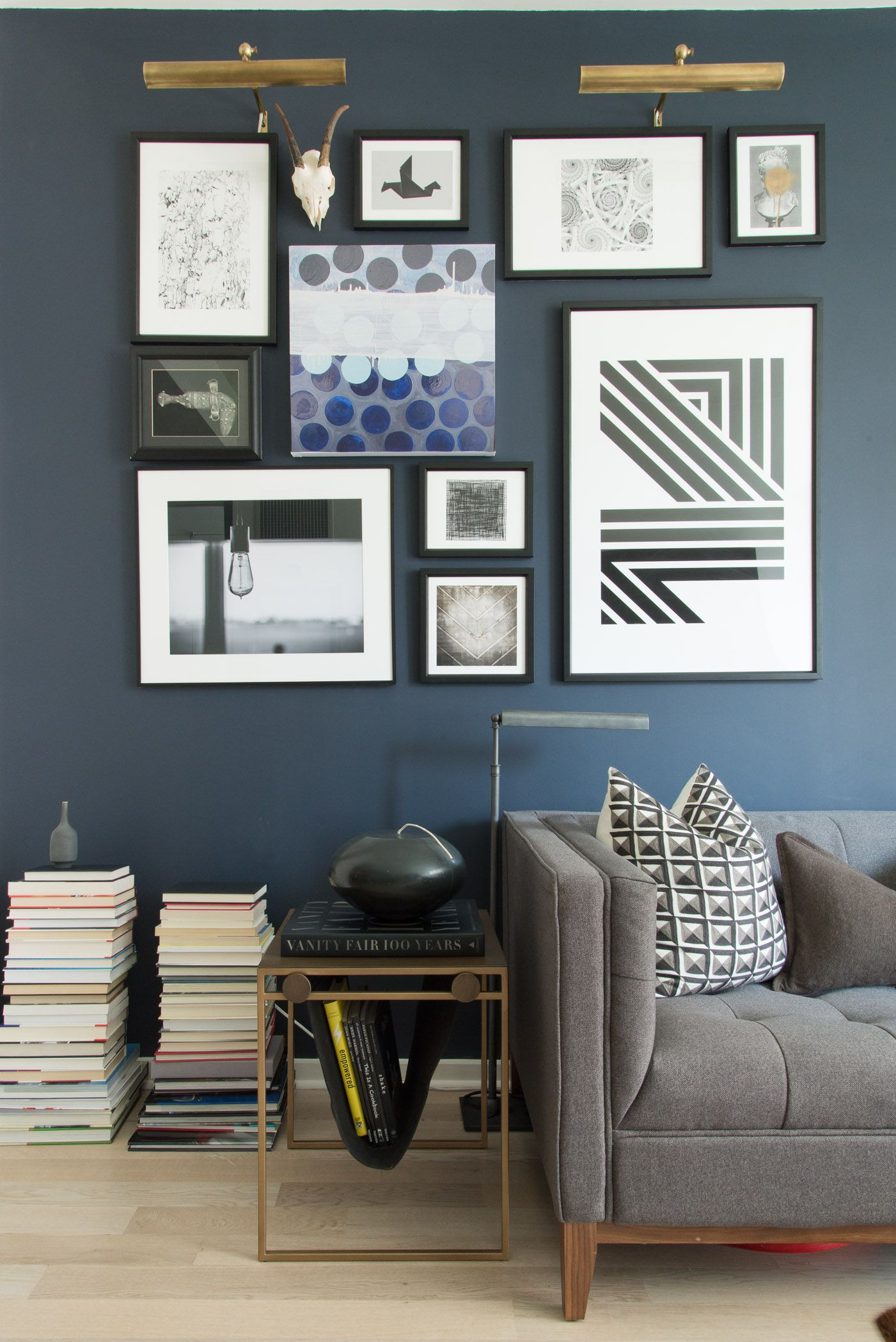 Gallery wall perfection Masculine Glamour in Gramercy
