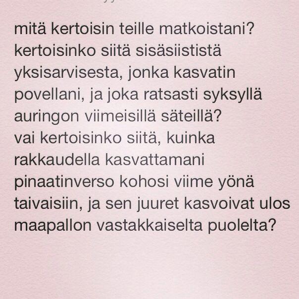 päivän runo 3.9.2014 www.taideonikuistaa.blogspot.fi