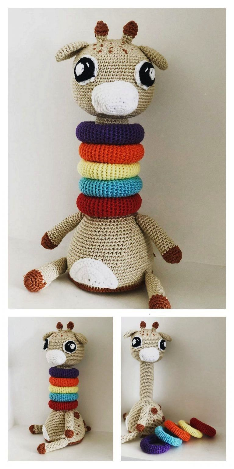 Tiny giraffe crochet pattern | Amiguroom Toys | 1536x768