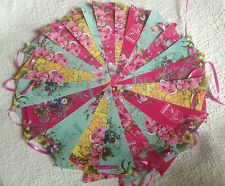 Pip Studio Garland/ Vintage Floral Handmade Bunting 40ft Parties/Bedroom/Outdoor