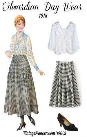 Edwardian skirt costume fashion