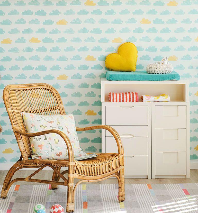 Tienda online telas papel un dormitorio decorado con - Papel pintado habitaciones ...