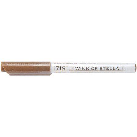 Zig Memory System Wink Of Stella Brush Glitter Marker BROWN