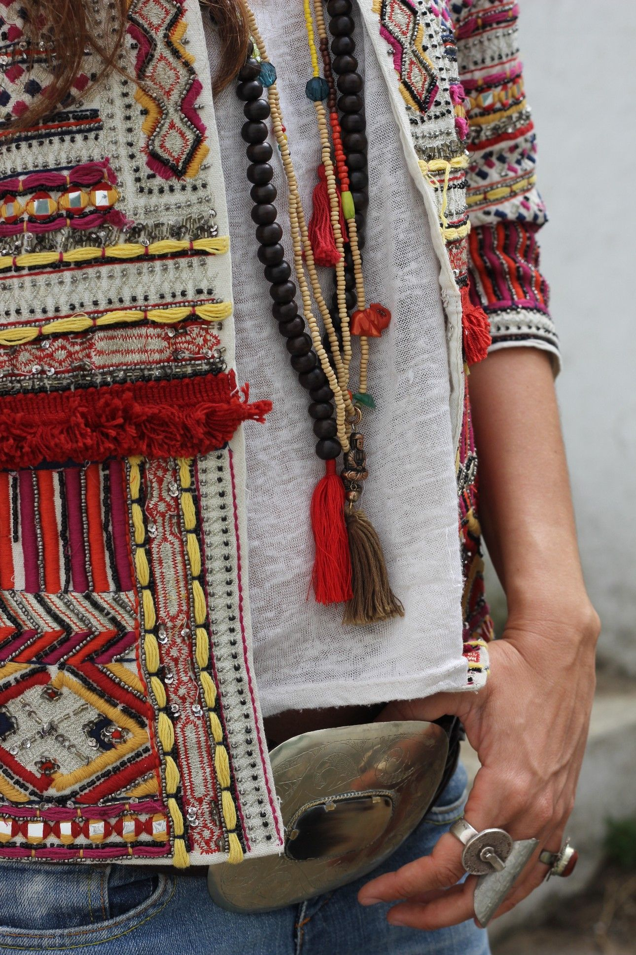 Boho Chic Ethnic Inspiration In Interior Design Projects: Zara Ethnic Jacket Loveliness