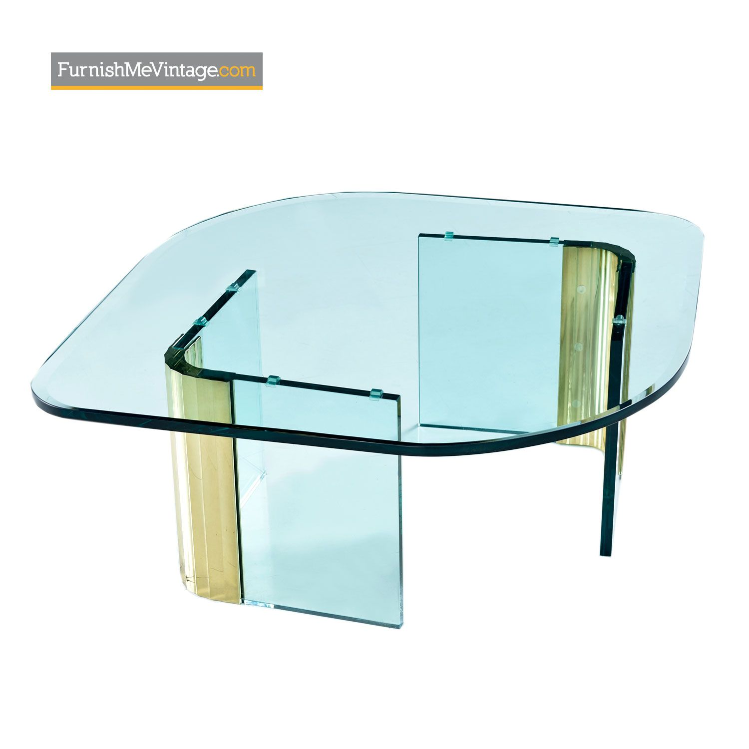 Leon Rosen Pace Collection Scalloped Brass Glass Coffee Table Glass Coffee Table Contract Interior Design Glass [ 1500 x 1500 Pixel ]
